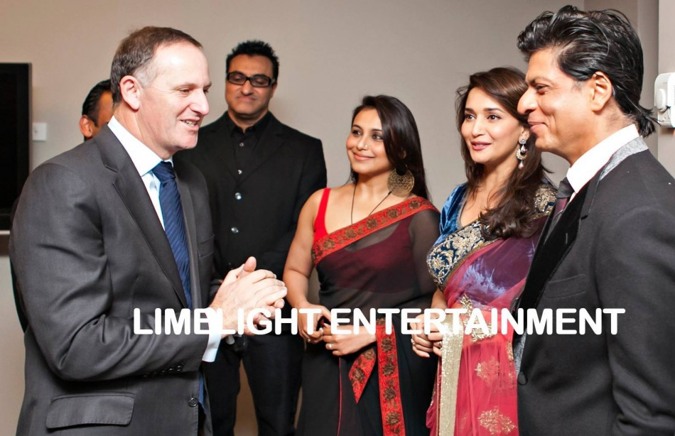 Bollywood actors meet New Zealand Prime Minister John Key before performance. (Photo: TemptationReloaded/Facebook)