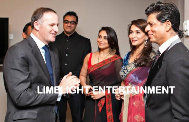 Bollywood actors meet New Zealand Prime Minister John Key before performance. (Photo: TemptationReloaded/Facebook)