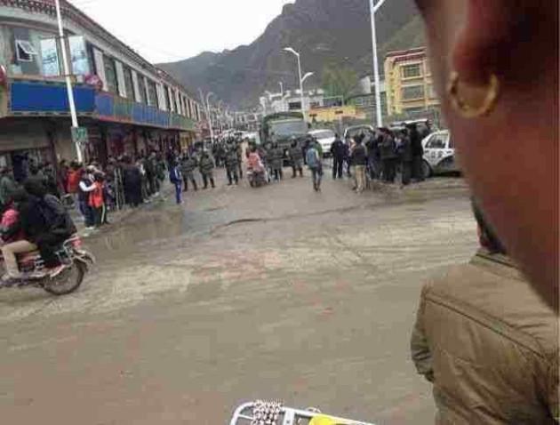 Tibet  Biru protests