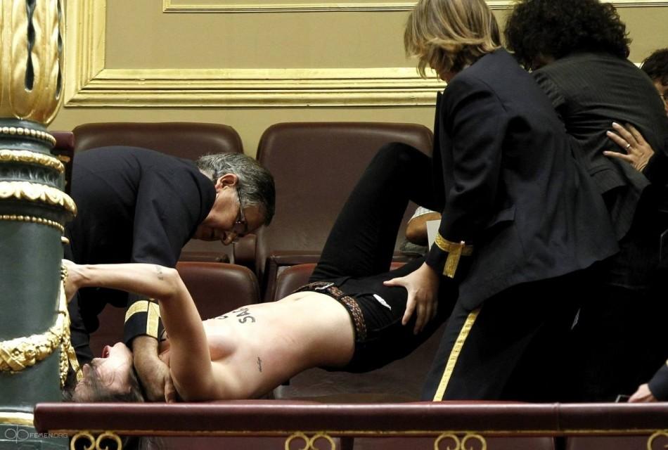 Femen Topless Madrid