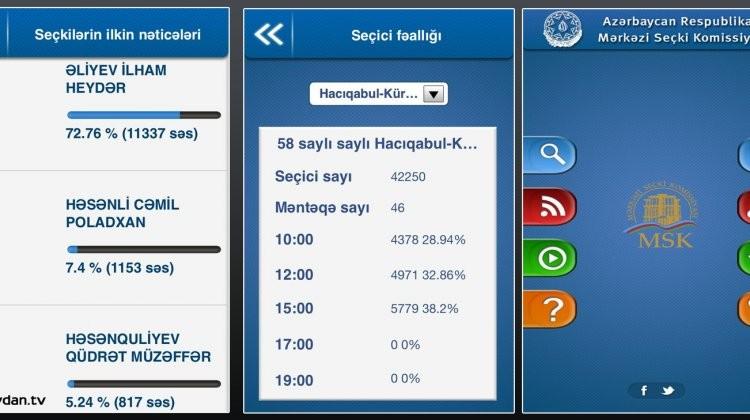 Screengrab of the app
