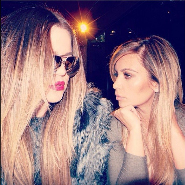 Kim and Khloe Kardashian. Credit: Instagram/Kim Kardashian