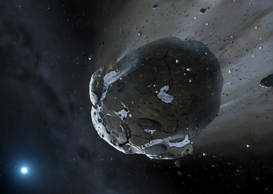Artist's impression of an asteroid