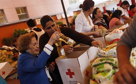 The Red Cross is known to deliver food to victims of war or natural disasters (Reuters)