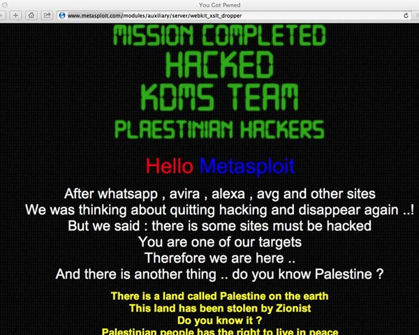 Metasploit Hacked Using a Fax