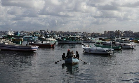 The boat sank off the Egyptian coastal city of Alexandria (Reuters)