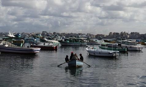 The boat sank off the Egyptian coastal city of Alexandria (Reuters)