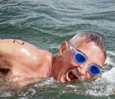 Burgert van der Westhuizen, an experienced ocean swimmer, was killed in a shark attack. Photo: JBay Swim.