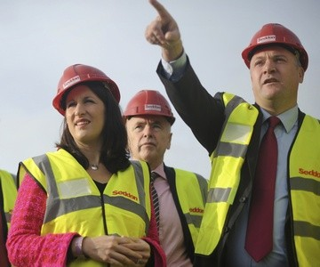 Rachel Reeves (left) with Shadow Chancellor Ed Balls