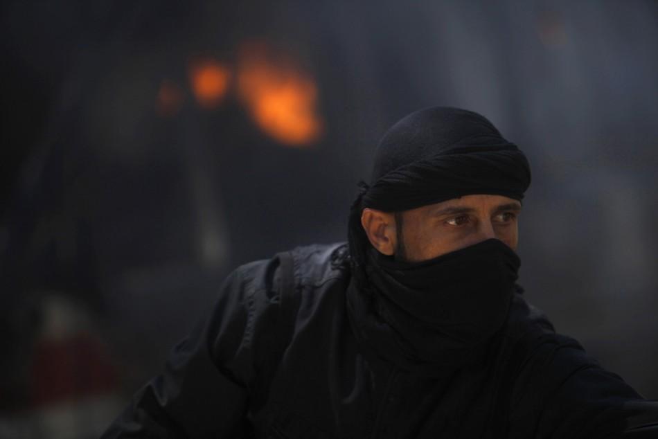 Fighter from Syrian rebel faction Jabhat al-Nusra