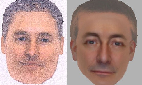 The e-fits are believed to be of the same man seen in the Praia da Luz town area around the time of Madeleine's disappearance (Met Police)