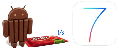 Android 4.4. vs iOS 7