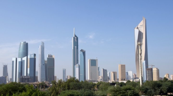 A general view of Kuwait City