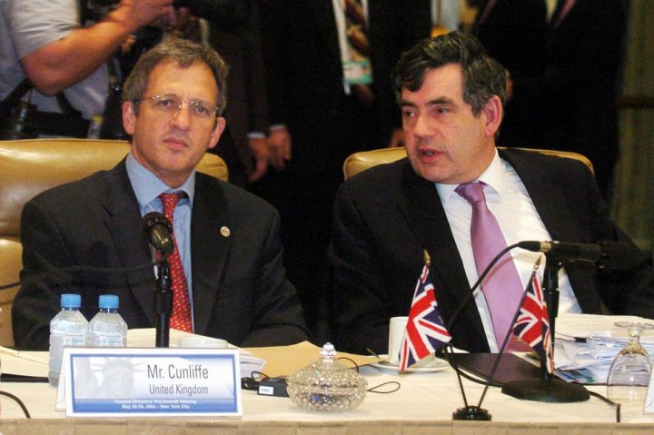Sir John Cunliffe and Gordon Brown