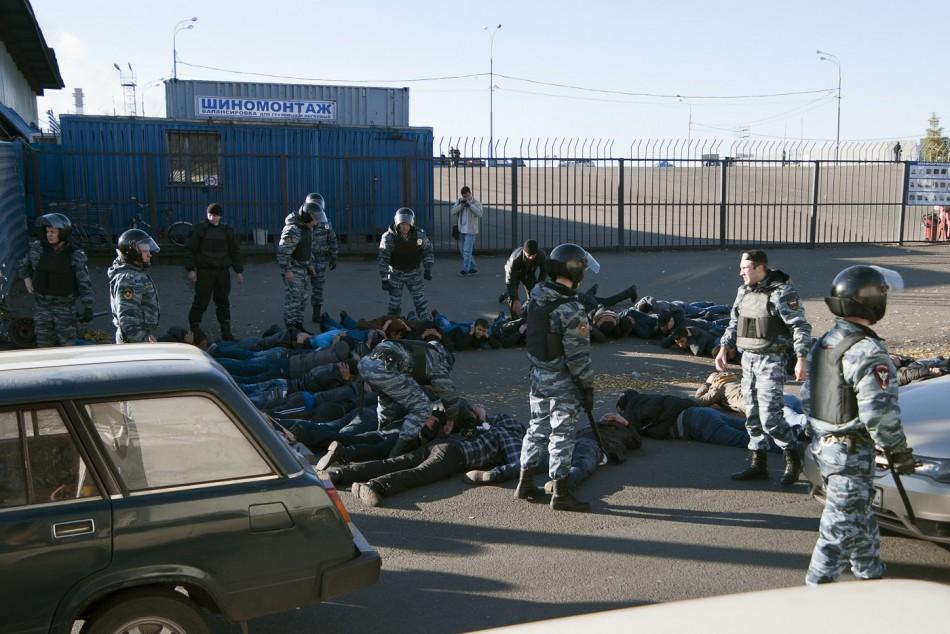 Moscow migrants arrest