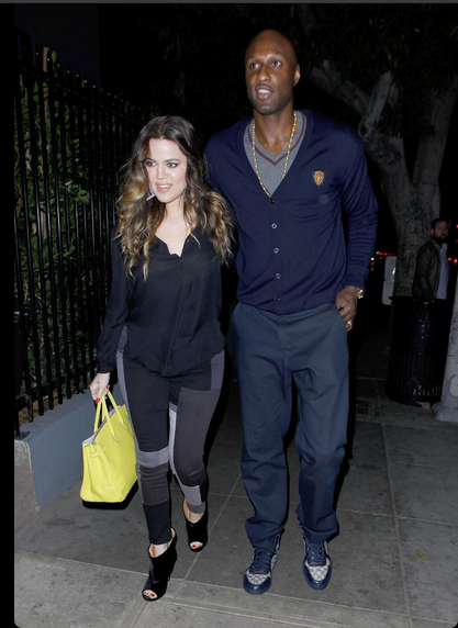 Lamar Odom and Khloe Kardashian/Twitter/KardashianNavy
