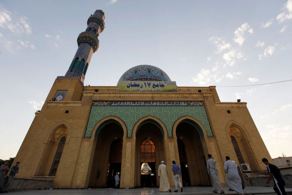 Worshippers attend prayers at a Sunni mosque on the first day of Eid-al-Adha in Baghdad. (Photo: Reuters)