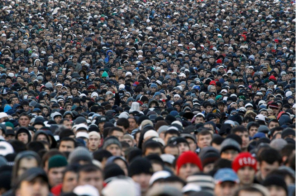 Muslims gather for Eid al-Adha prayers in Moscow. (Photo: Reuters)