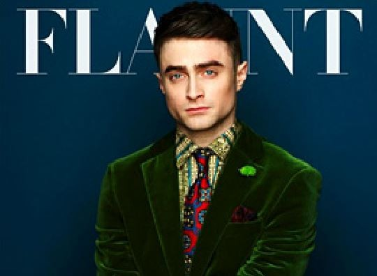 Daniel Radcliffe looked dapper in a velvet green suit on the cover of Flaunt magazine's latest issue. (Flaunt magazine)