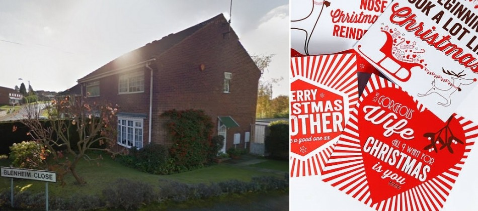Christmas cards were apparently sent by the Wycherleys from their house in Forest Town, Notts, where two bodies were found PIC: Google