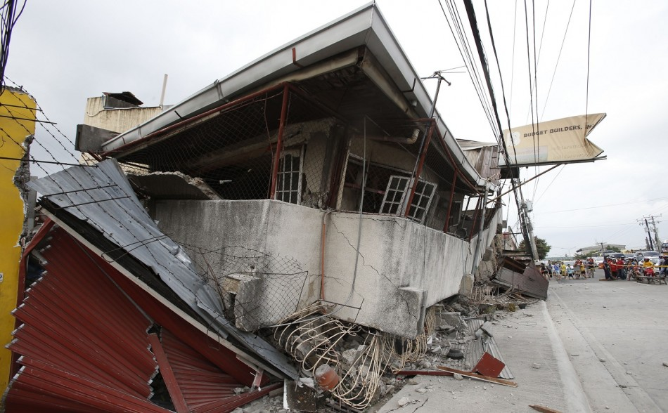 collapsed building Philippines