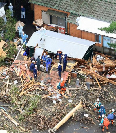 Typhoon Wipha pounds Japan