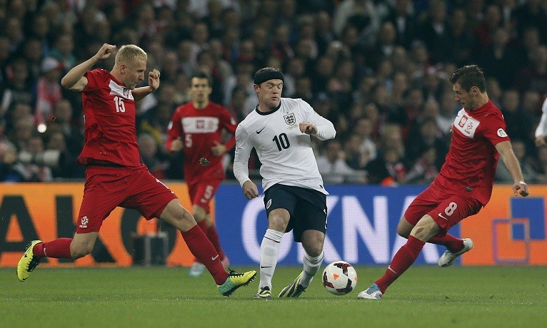 Polish fans crowded in to Wembley but England ran out victors on a night of 36 arrests PIC: Reuters