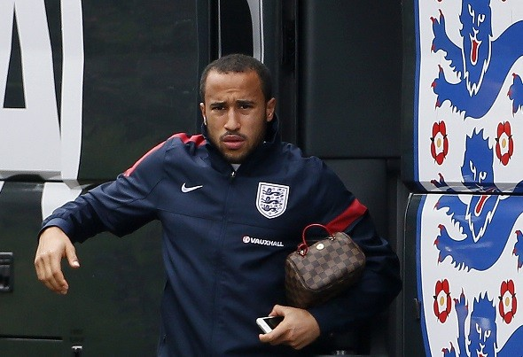 Andros Townsend impressed for England against Poland PIC: Reuters