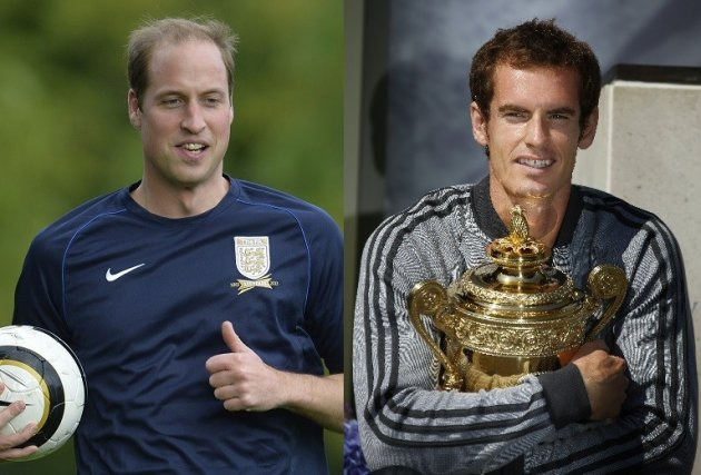 Prince William Andy Murray