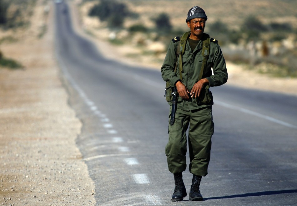 Tunisia national guard officer