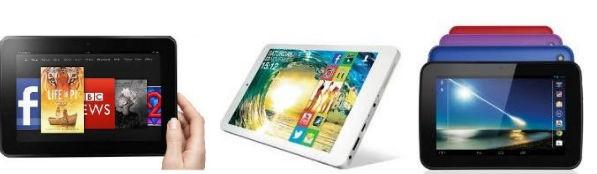 Amazon Kindle Fire HD, Argos MyTablet, Tesco Hudl