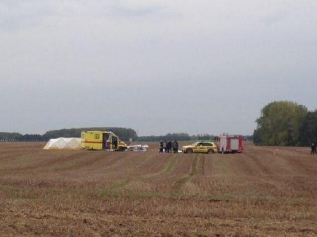 Crash scene in Marchovelette in South Belgium