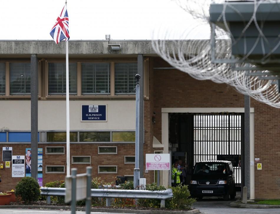 A van carrying radical Islamist cleric Abu Qatada leaves Long Lartin prison in Worcestershire.