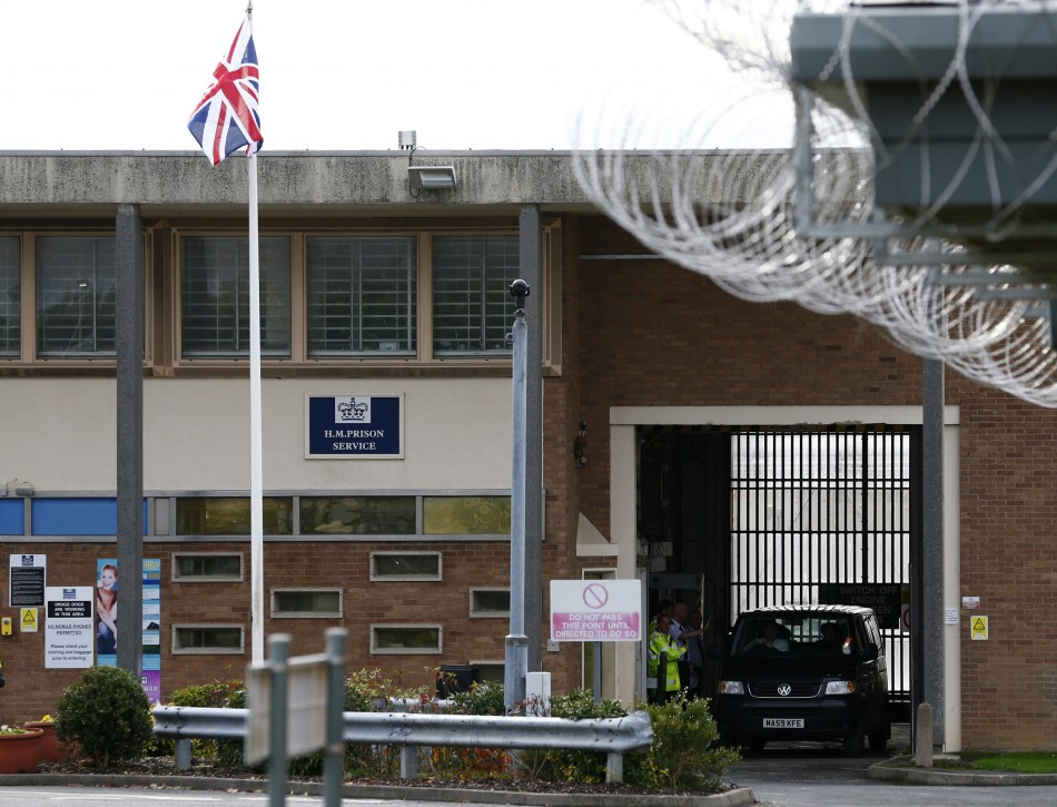 A van carrying radical Islamist cleric Abu Qatada leaves Long Lartin prison in Worcestershire.
