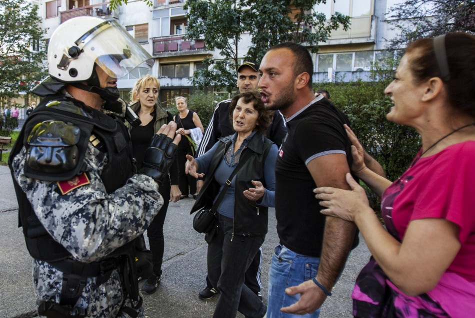 Police clashed with anti-gay protestors in Montenegro.