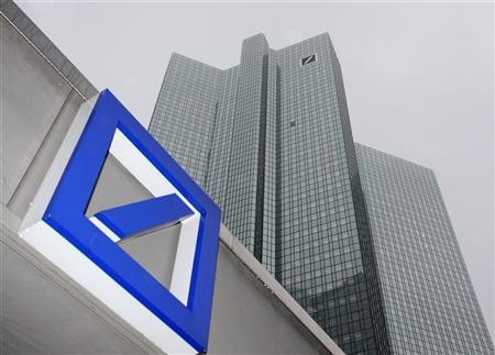 Deutsche Bank posted a surprise pre-tax loss of €1.15bn for the fourth quarter