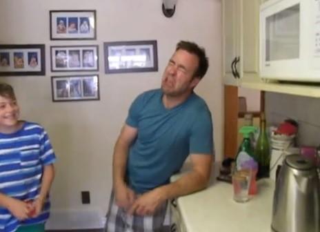 Dad imitating tantrum