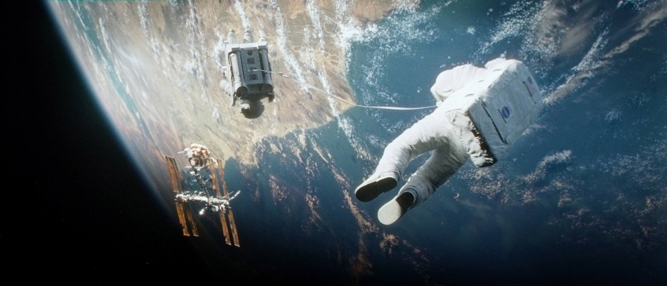 Gravity, starring George Clooney and Sandra Bullock
