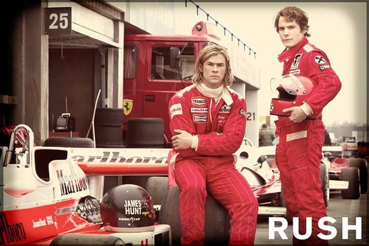 Rush starring Daniel Brühl and Chris Hemsworth