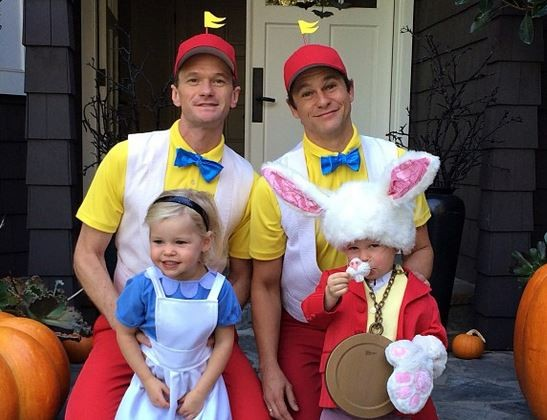 Halloween 2013: Neil Patrick Harris and Family Dress as Alice in Wonderland Characters (Instagram)