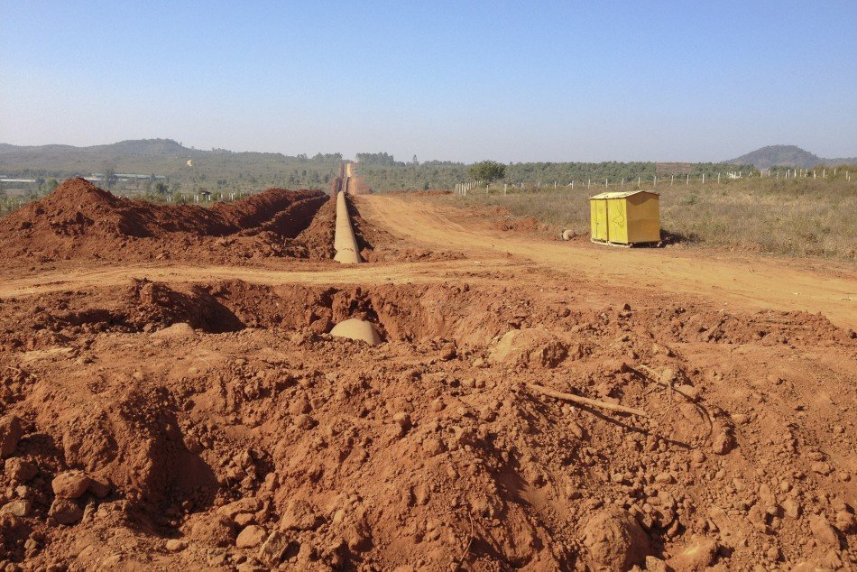 Construction site for Myanmar-China gas pipeline