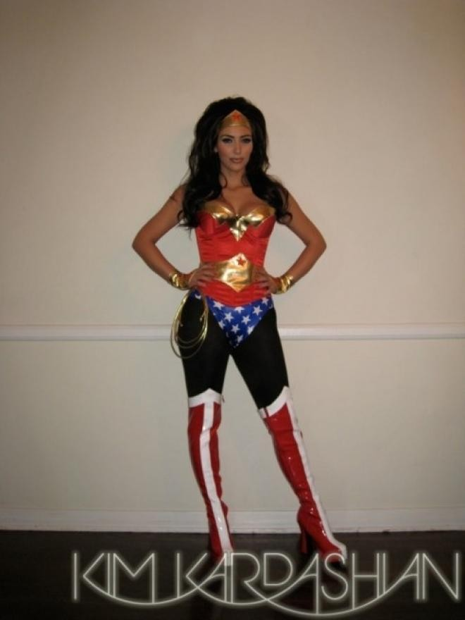 Kardashian as Wonder Woman  [Kim Kardashian/Celebbuzz]