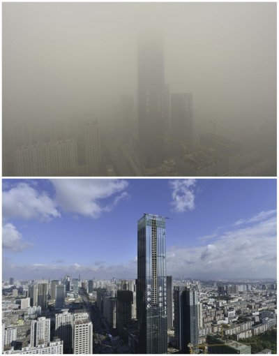 Smog in Shenyang, Liaoning province