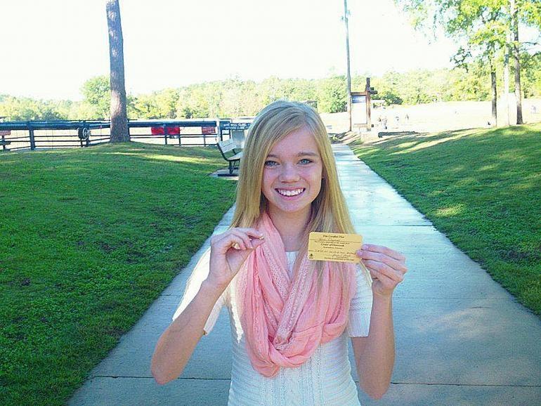 Tana Clymer, Oklahoma City Teen, Finds 3.85-Carat Diamond In State Park