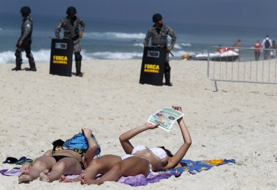 Rio de Janeiro beach protest