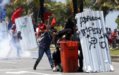 Rio de Janeiro oil protest