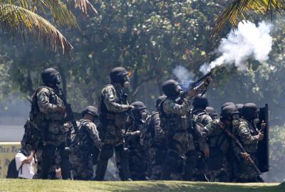 Teargas Rio de Janeiro