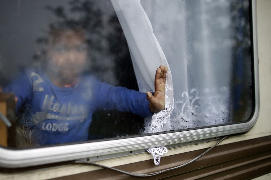Small child found in Dublin with Roma family PIC: Reuters