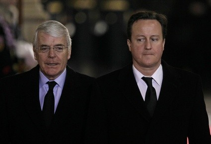 Sir John Major and David Cameron