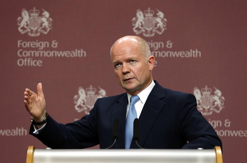 William Hague speaks